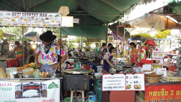 Street food market in Bangkok, Thailand