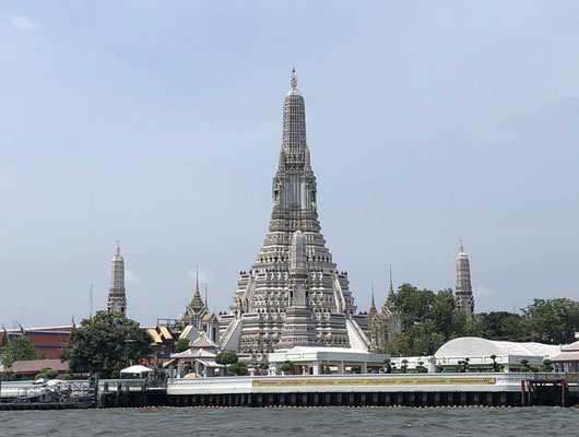 Wat Arun: on a long tail boat in Bangkok, Thailand