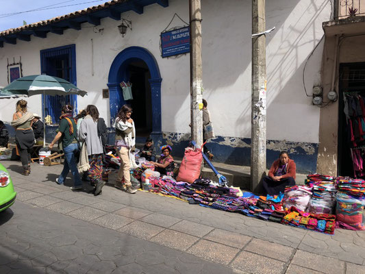 Markets on the streets of San Cristobal