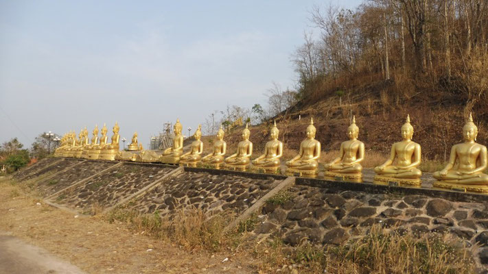 Hundreds of Buddhas in Pakse, Laos