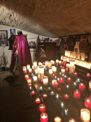 The black Saint Sara at the church of Saintes-Maries-de-la-Mer