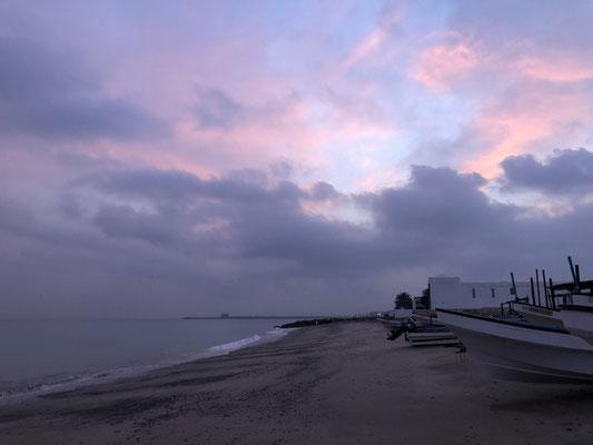 A cloudy Sunrise in Muscat, Oman