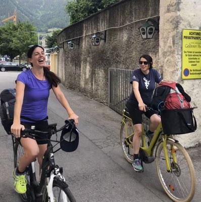 E-biking sisters