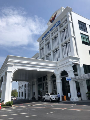 Modern and beautiful Bangkok Hospital in Phuket Town, Thailand - they even have valet parking