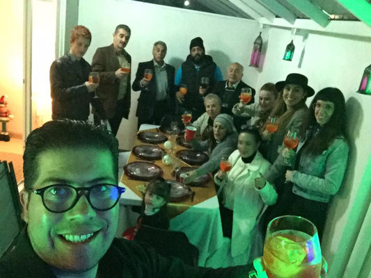 Cheers to a big family and Aperol Spritz