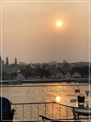 Sunset and a million dollar view in Bangkok