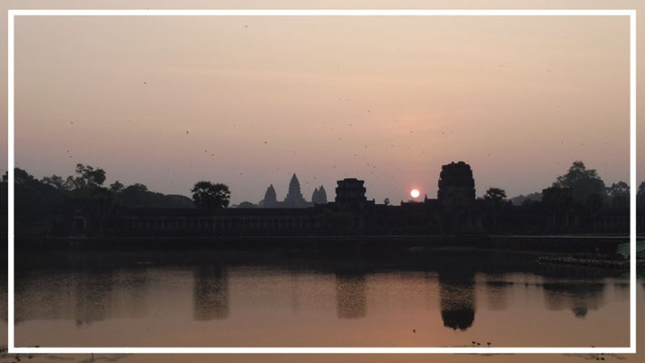Sunrise at magical Angkor Wat