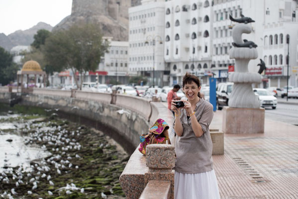 Irene having fun taking pictures in Muscat, Oman