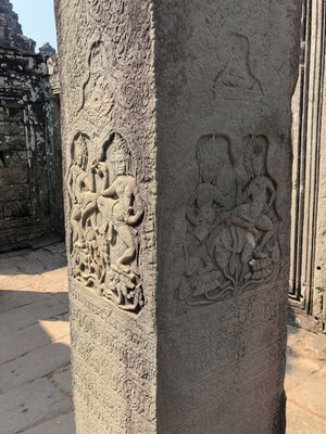Wonderful figures which can be found all over Angkor Wat