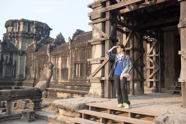 Irene exploring Angkor Wat and the rest of the temples