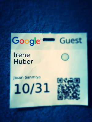 Irene's Guest pass at Google