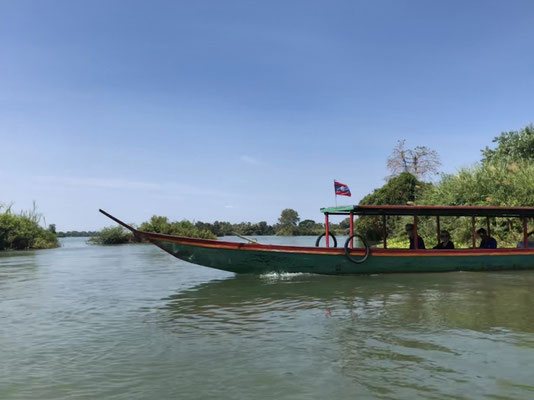 Boat on the Mekong, Laos