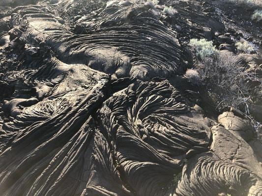 Old lava streams on El Hierro
