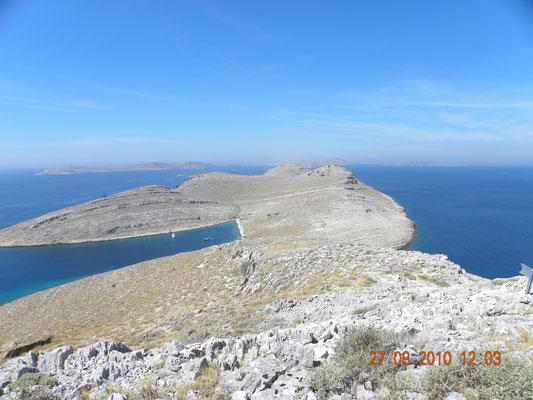 Blick vom Berg Opat auf die Kornaten