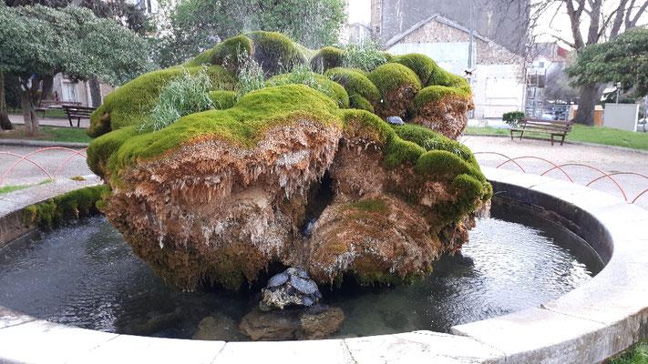 Springbrunnen mit Schildkröten- seit Jahren eine Attraktion