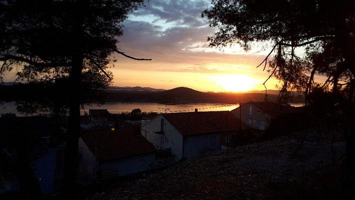KRKA--Fjord bei Sonnenuntergang