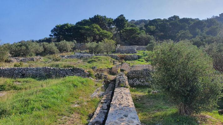 Freigelegte Ruinen
