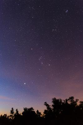 Morgendlicher Sternenhimmel