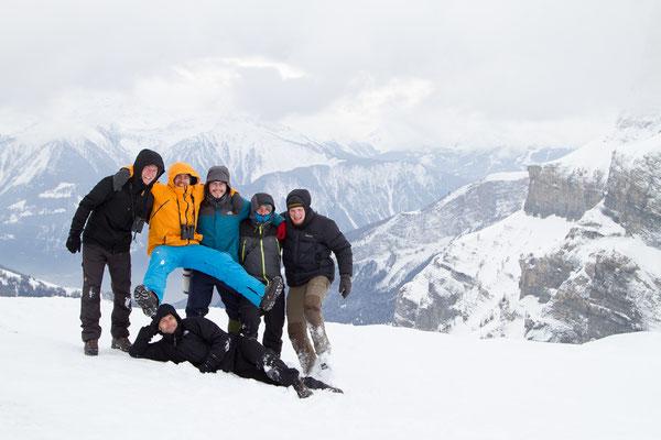 von links nach rechts: Jan Sohler, Ralph Martin, Lukas Thiess, Christian Höfs, Torsten Bittner; liegend: ich.