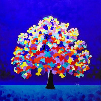 Magic Dream XVI - Huile sur toile 100cmx100cm - collection particulière