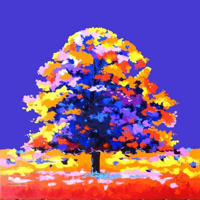 Magic Dream I - Huile sur toile 100cmx100cm - collection particulière