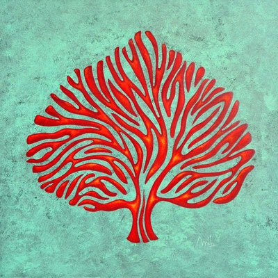 Antic tree n°I - acrylique sur toile - 60cm x 60cm - disponible