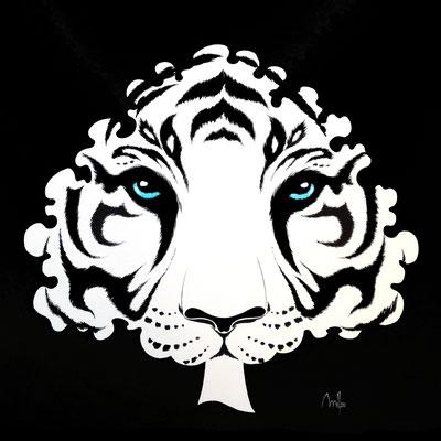 Tiger Tree - acrylique - 100x100cm - collection particulière