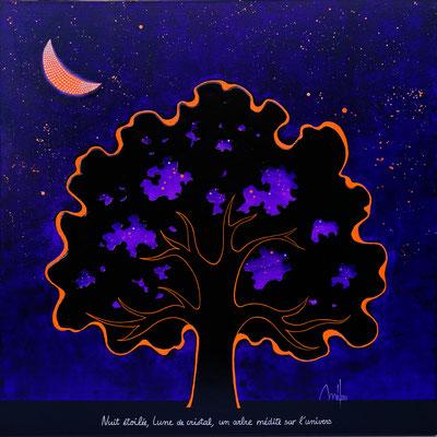 Clair de Lune -acrylique sur toile 80cmx80cm - disponible