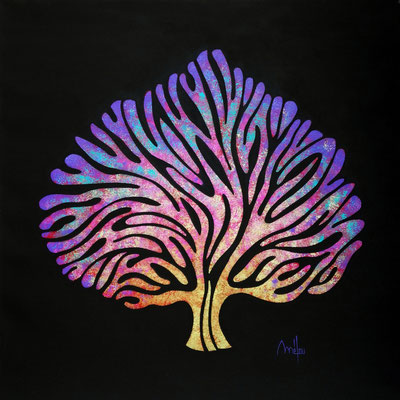 Antic tree n°III -acrylique sur toile - 60cm x 60cm - disponible