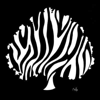 Zebra Tree - acrylique - 100cmx100cm -disponible