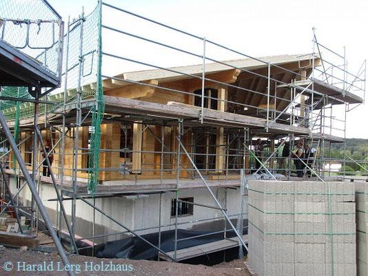 Blockhaus als Einfamilienhaus - Harald Lerg Holzhaus - Fulda -  Hesssen - Blockhausbau