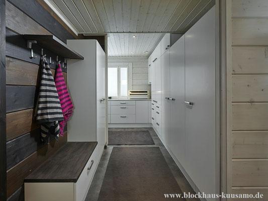 Wohnhaus, Einfamilienhaus, Eigenheim, Sauna, Umwelt -  © Blockhaus Kuusamo