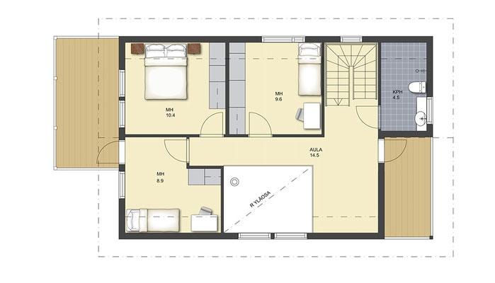 Stadtvilla aus Holz - Blockhäuser - Architektenhäuser - Blockhaus - Massivholzhaus am See - Ostsee - Architektenhaus - Modernes Wohnen im Blockhaus  - Planen - Wir bauen ein Haus in Schleswig-Holstein