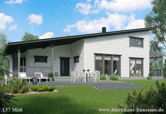 Blockhaus bauen - Blockhaus mit Pultdach - Allergikerhaus