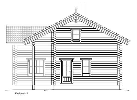 Blockhaus  - Planung - Ansicht
