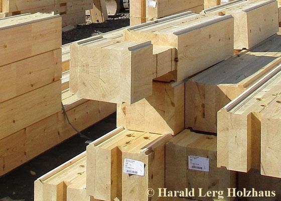 Blockhaus Bausatz - Blockbalken mit 275 mm