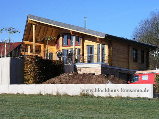 Modernes Wohnen im Blockhaus  -  © Blockhaus Kuusamo