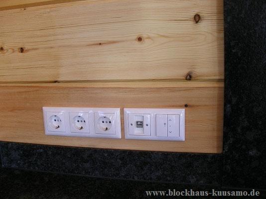 Elektroleitungen im Blockhaus