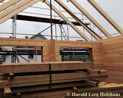 Dachkonstruktion in dem Bereich Wohnzimmer