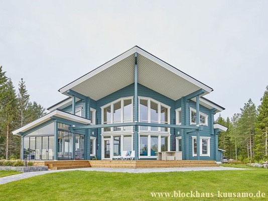 Designhaus in massiver Blockbauweise - Exklusives Wohnblockhaus