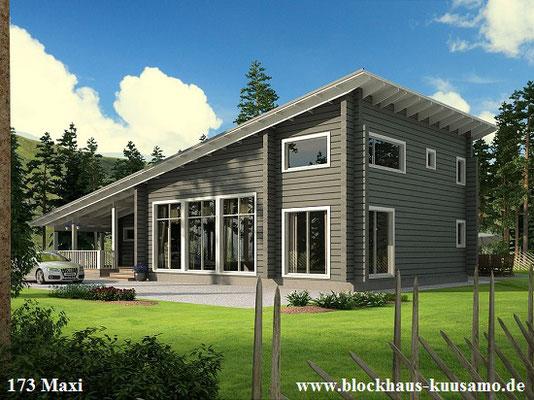Holzbau - Holzhaus in Blockbauweise bauen - Architektenhaus
