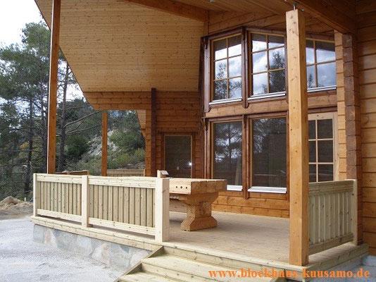 BLockhaus Wittstock mit Terrasse - Hausbau - Holzhaus