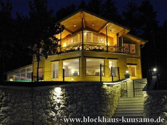 Massives Holzhaus  bauen- Blockhaushotel - Einfamilienhaus - Offenbach - Wetzlar - Limburg