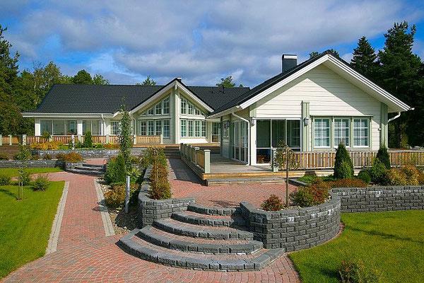 Holzhaus in Blockholzbauweise