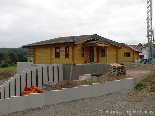 Wohnblockhaus Holzhaus