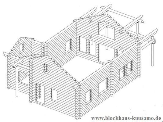 Blockhaus 3D