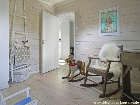 Innenansicht im Blockhaus - © Blockhaus Kuusamo