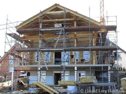 Blockhaus - Holzhaus in Blockbauweise - Hausbau - Massivholzhaus