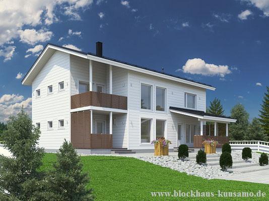 Einfamilienhaus - Blockhaus - Blockhaus, Holzhaus, Bauen, Holz, Wohnhaus, Planung, Blockhausbau, Architektenhaus,      © Blockhaus Kuusamo