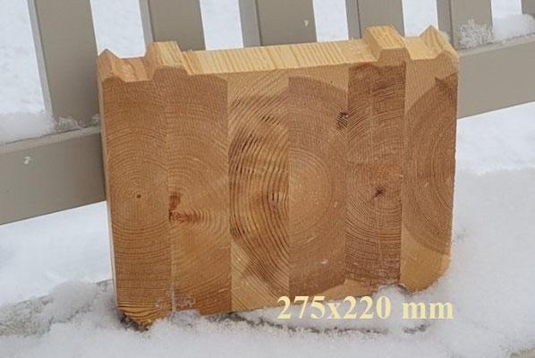 Formstabile Blockbohle 275 x 220 mm aus Leimholz - Holz - Polarholz - Polarkiefer - Lappland -Finnland